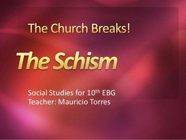 Social Studies for 10th EBG Teacher: Mauricio Torres