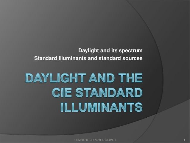 1.4 daylight and the cie standard illuminants