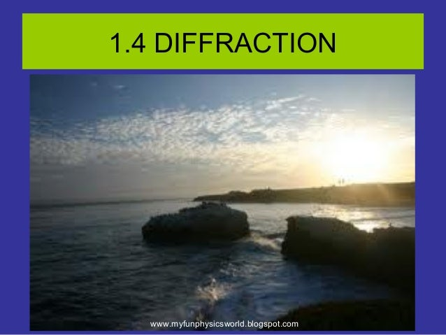 1.4 Diffraction Of Waves