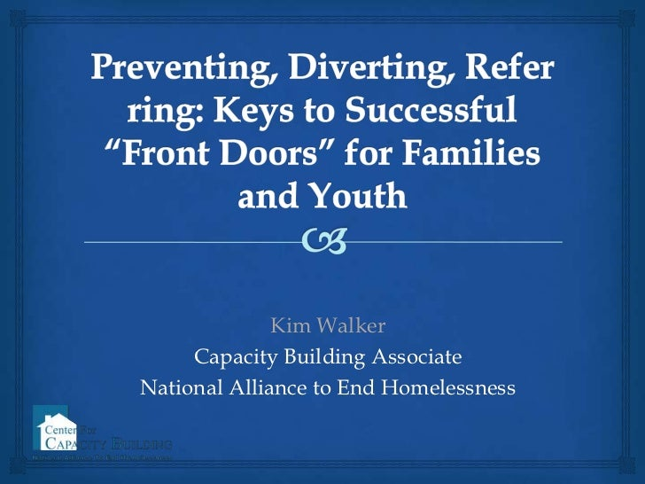1.4 Preventing, Diverting, and Referring: Keys to Successful Front Doors for Families and Youth