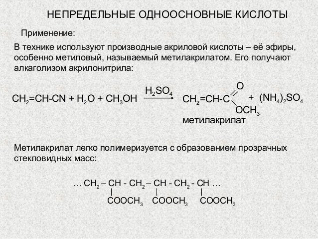 акриловой кислоты – её
