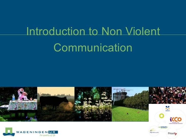 Introduction to non-violent communication