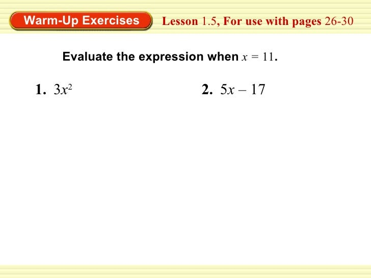 1.5 equations and solutions 1