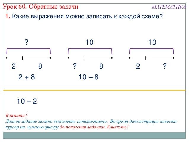 Обратные задачи МАТЕМАТИКА1.