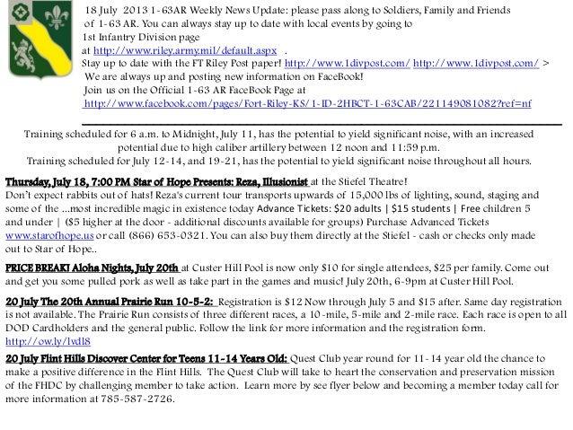 1- 63 Weekly News Update 18 July