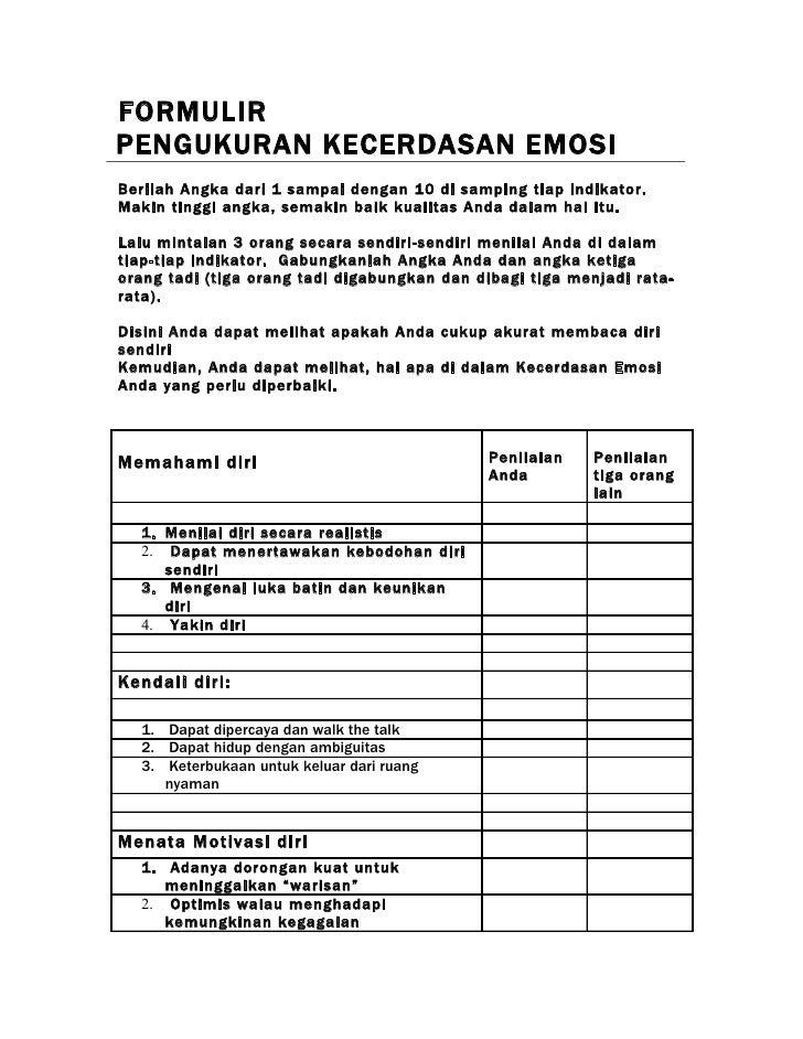 1.6 A Workbook Formulir Kecerdasan Emosi