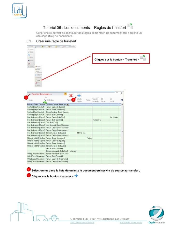 Tutoriel 06 : Les documents – Règles de transfert           Cette fenêtre permet de configurer des règl...