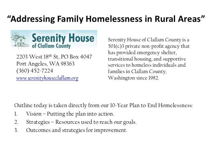 1.6: Addressing Family Homelessness in Rural Communities