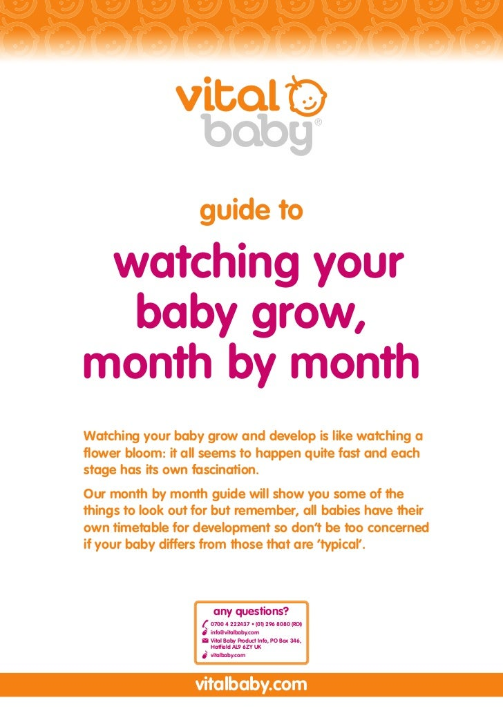 guide to watching your  baby grow,month by monthWatching your baby grow and develop is like watching aflower bloom: it all...