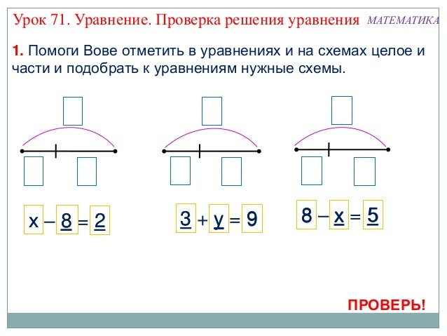 Математика. 1 класс. Урок 71.