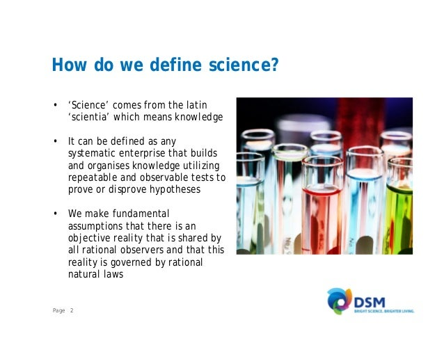 How would you define science?
