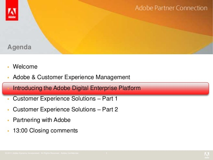 Customer Experience Management from Adobe