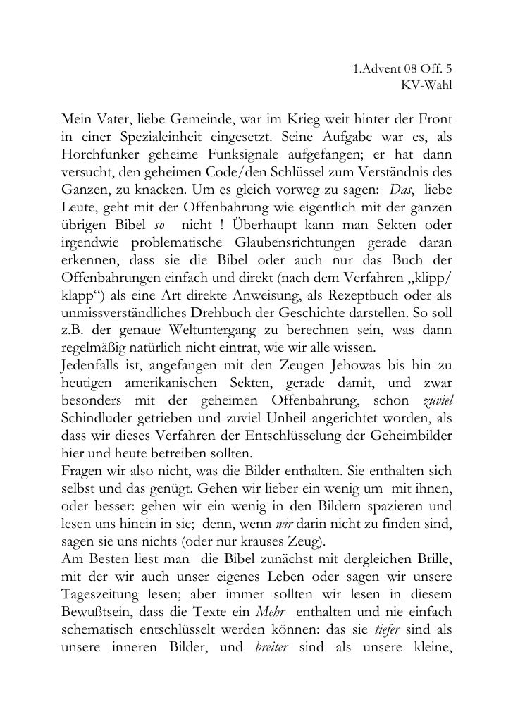 1.Advent 08 Off. 5                                                          KV-Wahl  Mein Vater, liebe Gemeinde, war im Kr...