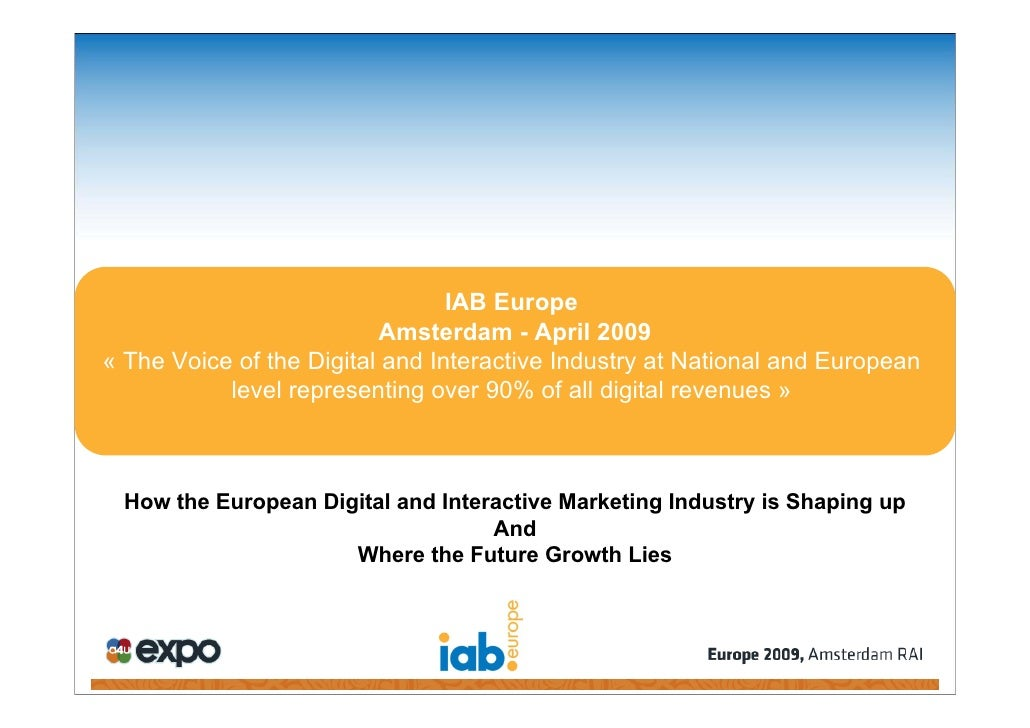 How The Eu Digital And Interactive Marketing Industry Is Shaping Up