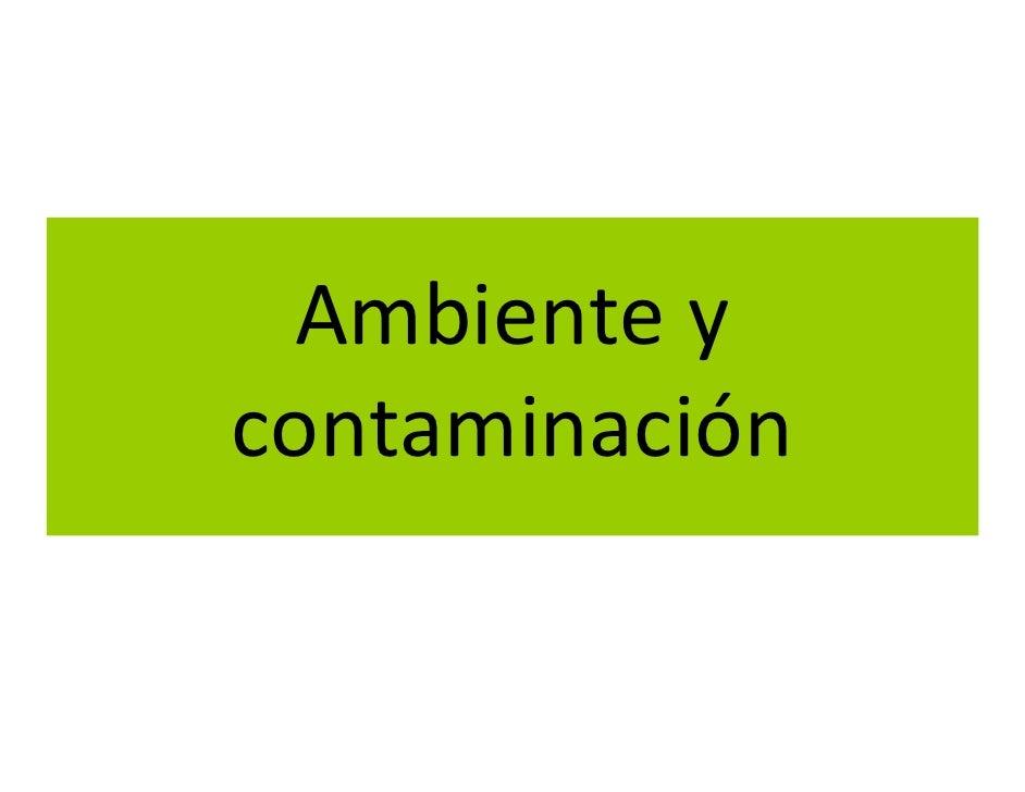 Ambiente y contaminación