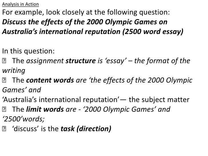 the word discuss in an essay