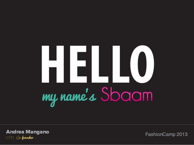 Andrea Mangano - SBAAM