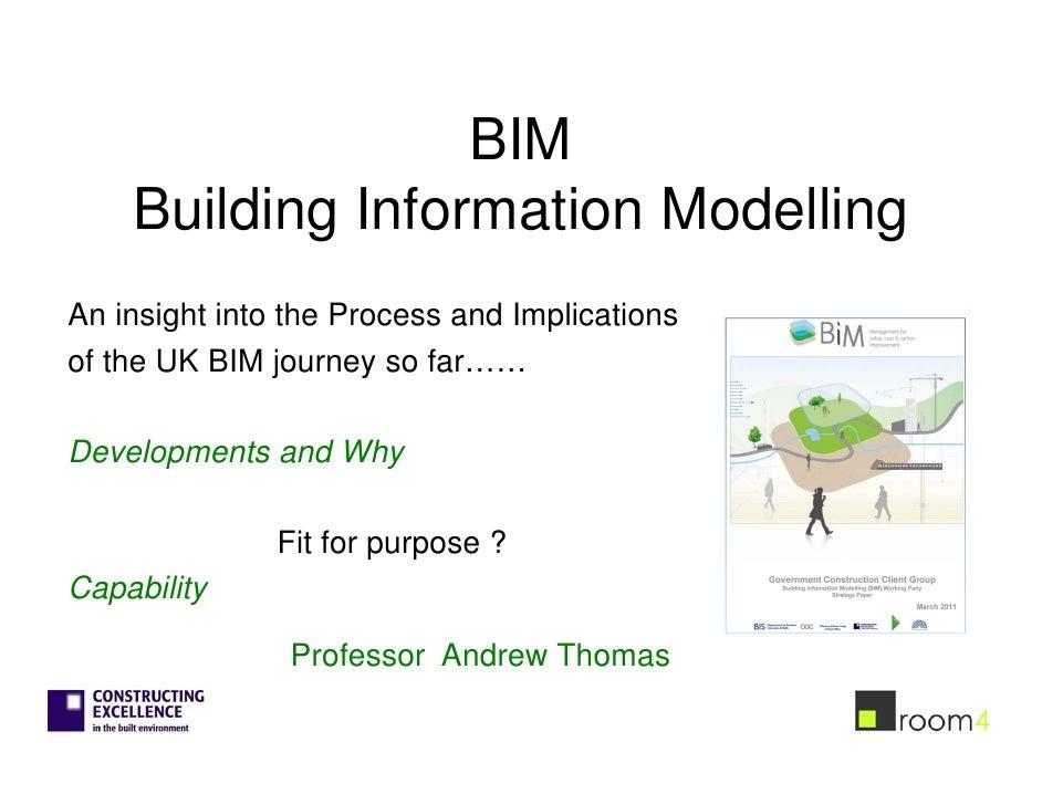 BIM    Building Information ModellingAn insight into the Process and Implicationsof the UK BIM journey so far……Development...