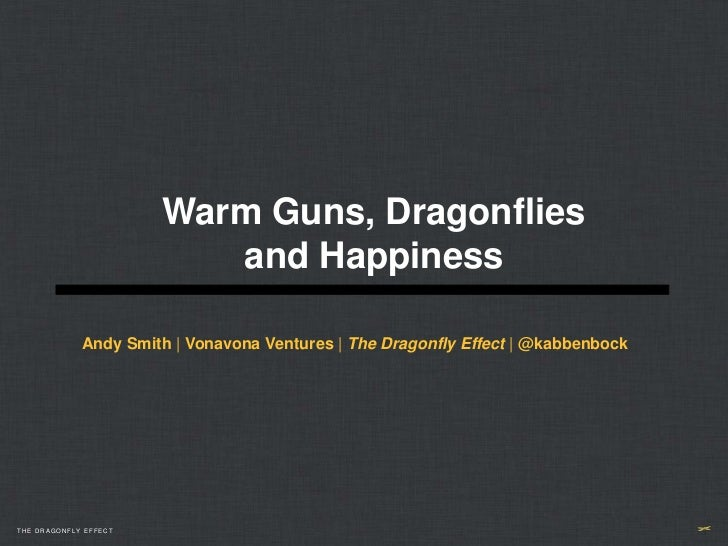 Warm Guns, Dragonflies                          and Happiness             Andy Smith | Vonavona Ventures | The Dragonfly E...