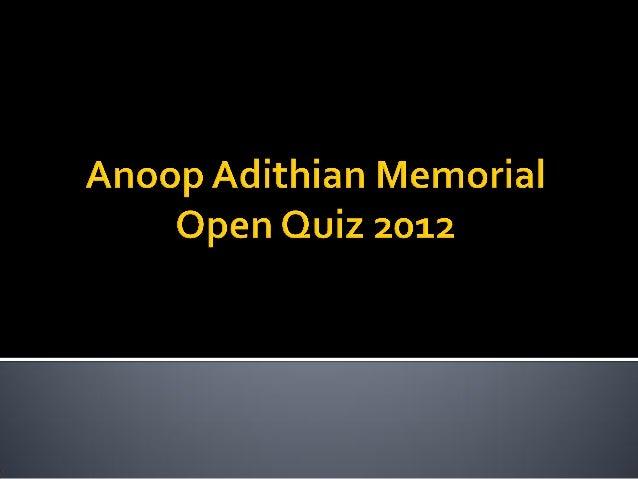 1. anoop adithian quiz 2012   final set by captain