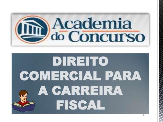 1DIREITOCOMERCIAL PARAA CARREIRAFISCAL