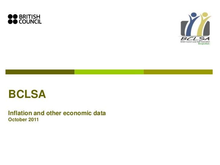 1. bclsa  market data on inflation -october 2011