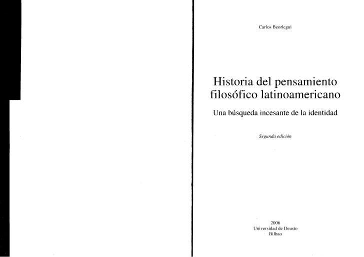 """Carlos Borlegui: """"Historia del pensamiento filosófico latinoamericano"""""""