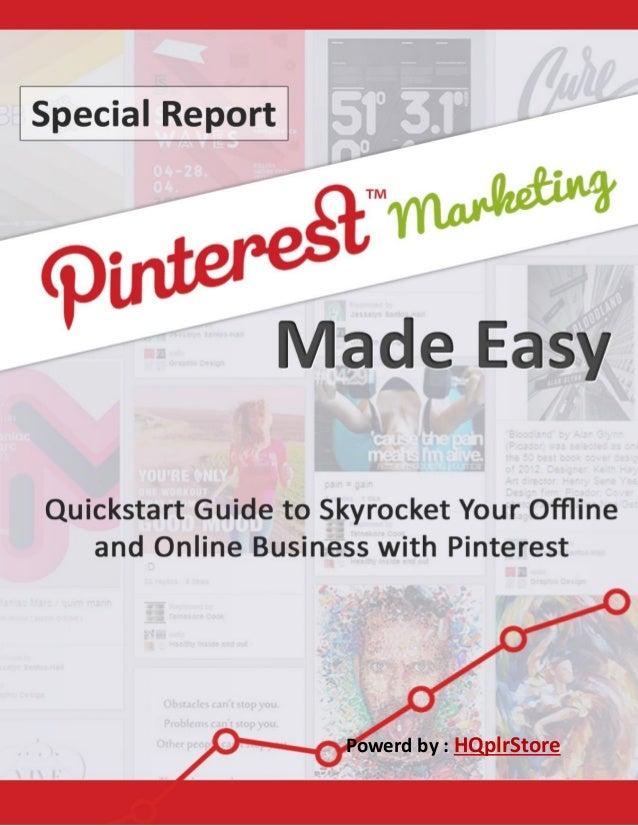 Pinterest marketing Made Easy