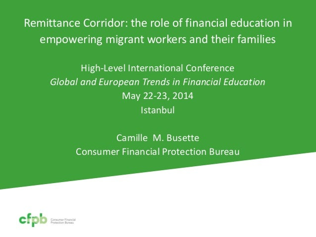Remittance Corridor: the role of financial education in empowering migrant workers and their families High-Level Internati...