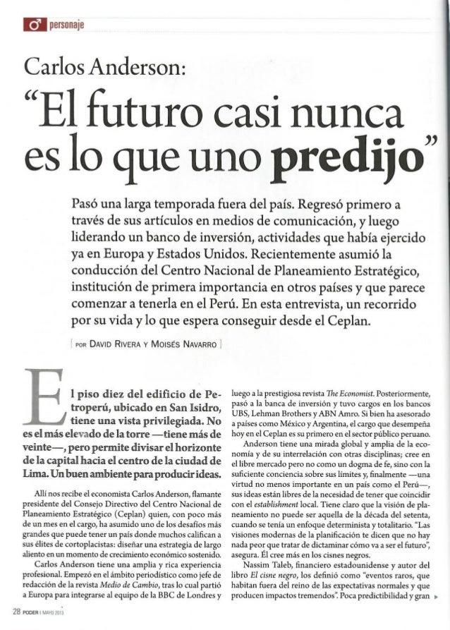 Entrevista Presidente CEPLAN , Perú