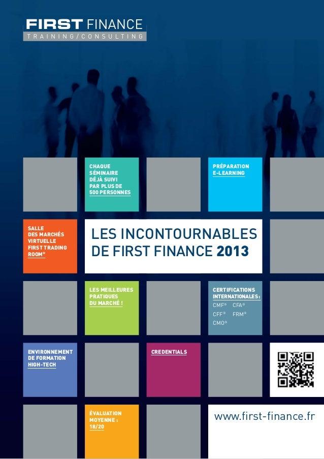 Brochure Incontournables de FIRST FINANCE