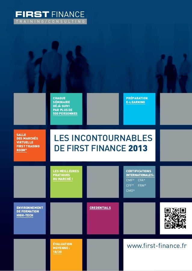 Brochure Incontournables de FIRST FINANCE