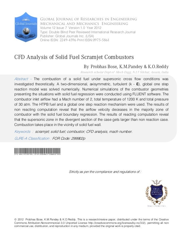 © 2012 Probhas Bose, K.M.Pandey & K.O.Reddy. This is a research/review paper, distributed under the terms of the Creative ...