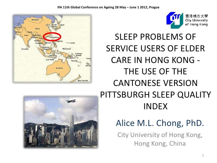 IFA 11th Global Conference on Ageing 28 May – June 1 2012, Prague                               SLEEP PROBLEMS OF         ...