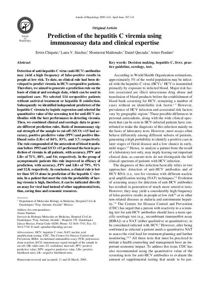 Annals of Hepatology 2005; 4(2): April-June: 107-114                                                                Origin...
