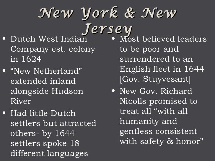 Facts about new york colony?