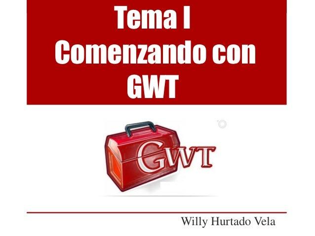 Comenzando con GWT