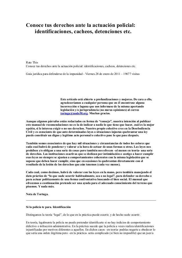 1.  conoce tus derechos ante la actuación policial. manuales col antimilitarista tortuga