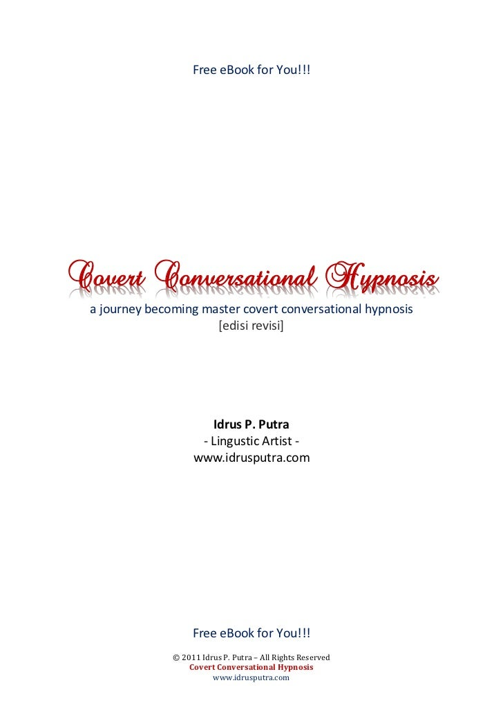 Free eBook for You!!!Covert Conversational Hypnosis a journey becoming master covert conversational hypnosis              ...