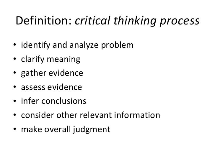 explain critical thinking process It is important for researchers to understand the importance of critical thinking the research process the importance of critical thinking skills in.