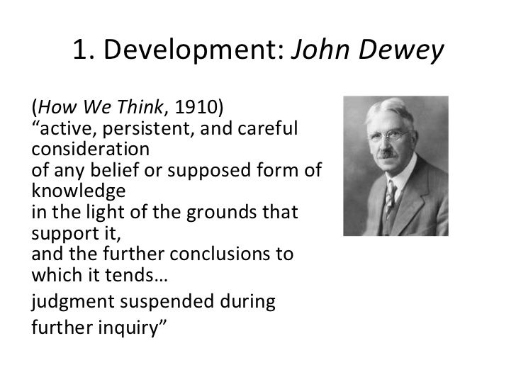 John Dewey 1909 Critical Thinking – 668948