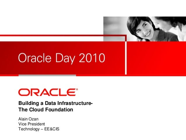 <Insert Picture Here> Building a Data Infrastructure- The Cloud Foundation Alain Ozan Vice President Technology – EE&CIS