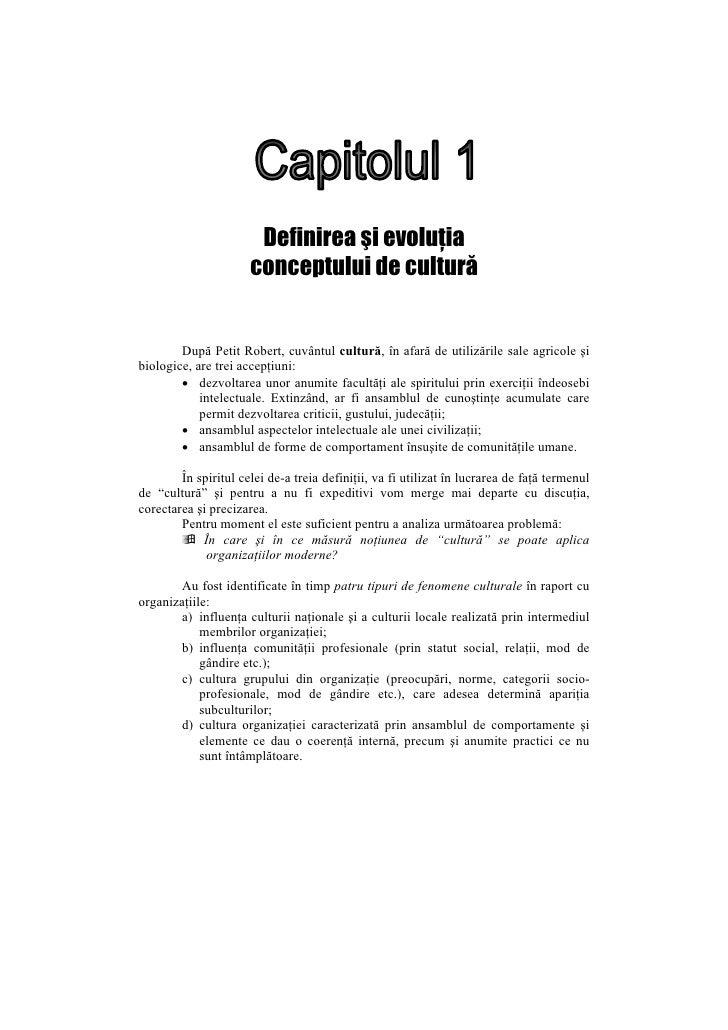 1 Definirea Si Evolutia Conceptului De Cultura