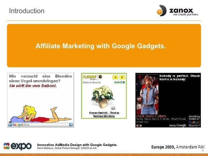 Innovative AdMedia Design with Google Gadgets