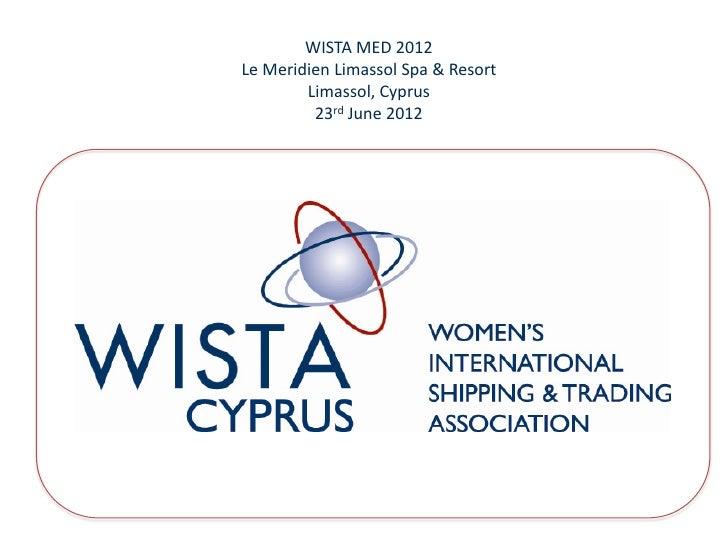 Despina Panayiotou Theodosiou wista med conference presentation 2012
