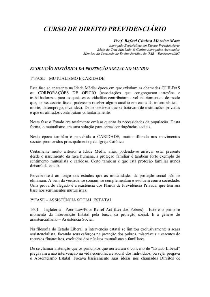 1   direito previdenciário - 2012 - evolução histórica