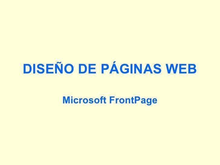 1.DiseñO De PáGinas Web