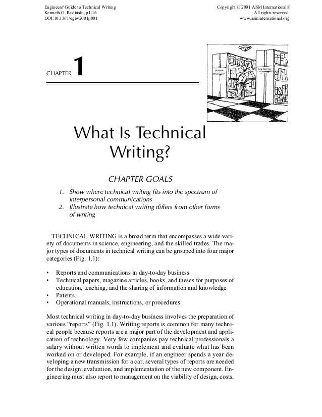 Technical writing engineering