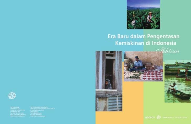 Era Baru dalam Pengentasan    Kemiskinan di Indonesia