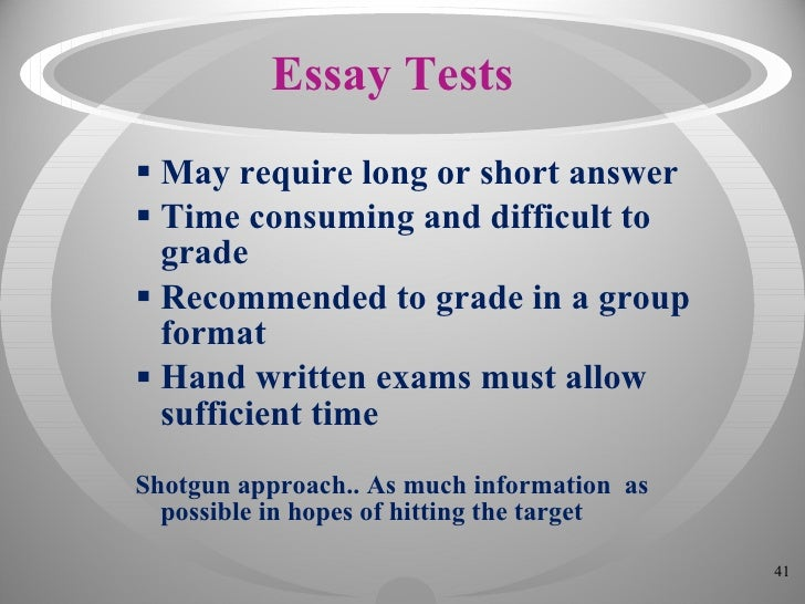 essay on shotgun and correct answer